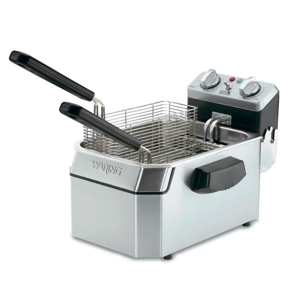 Waring WDF1500B Countertop Electric Fryer - (1) 15 lb Vat, 208v/1ph