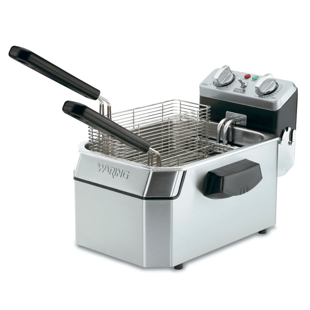 Waring WDF1550 Countertop Electric Fryer - (1) 15 lb Vat, 240v/1ph