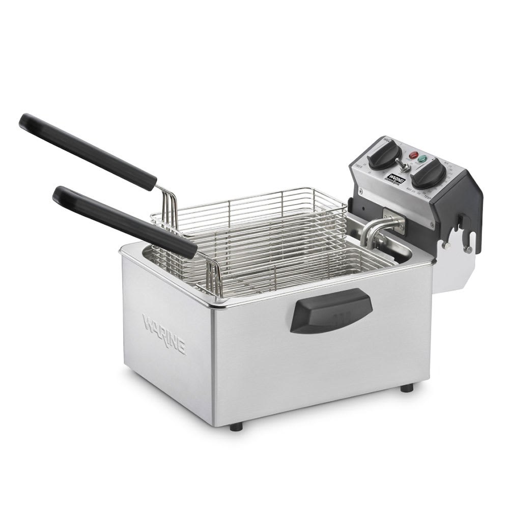 Waring WDF75B Countertop Electric Fryer - (1) 8.5-lb Vat, 208v/1ph