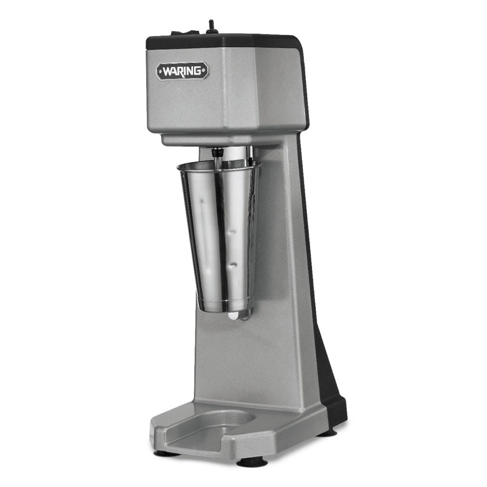 Waring WDM120 Counter Mounted Drink Mixer w/ 1 Spindle & 3 Speed Motor, Stainless Cup, 120V