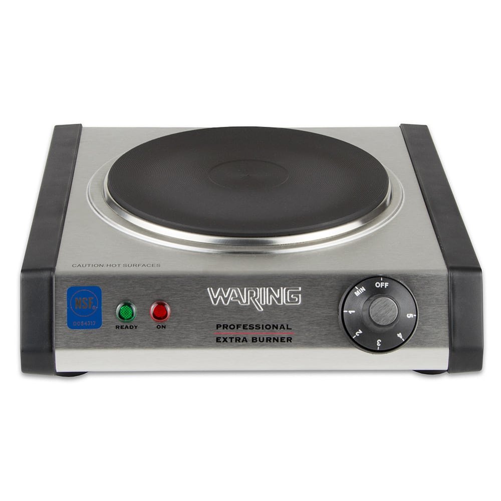 "Waring WEB300 11"" Electric Hotplate w/ (1) Burner & Infinite Controls, 120v"