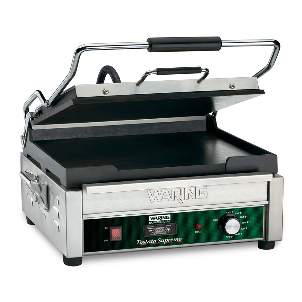Waring WFG275T Commercial Panini Press w/ Cast Iron Smooth Plates, 120v