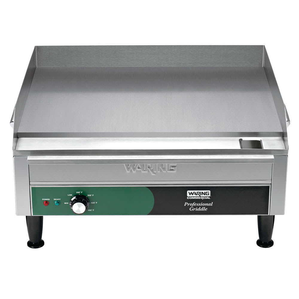 "Waring WGR240X 24"" Electric Griddle - Thermostatic, 1""  Plate, 240v/1ph"