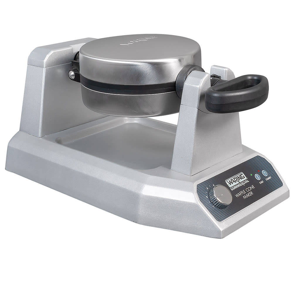 Waring WWCM180 Single Waffle Cone Maker w/ Embedded Heating Element & Extra-Deep Drip Pan