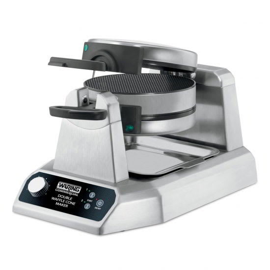 """Waring WWCM200 Non-Stick Double Waffle Cone Maker w/ (25) 7"""" Per Hour, Rotary"""