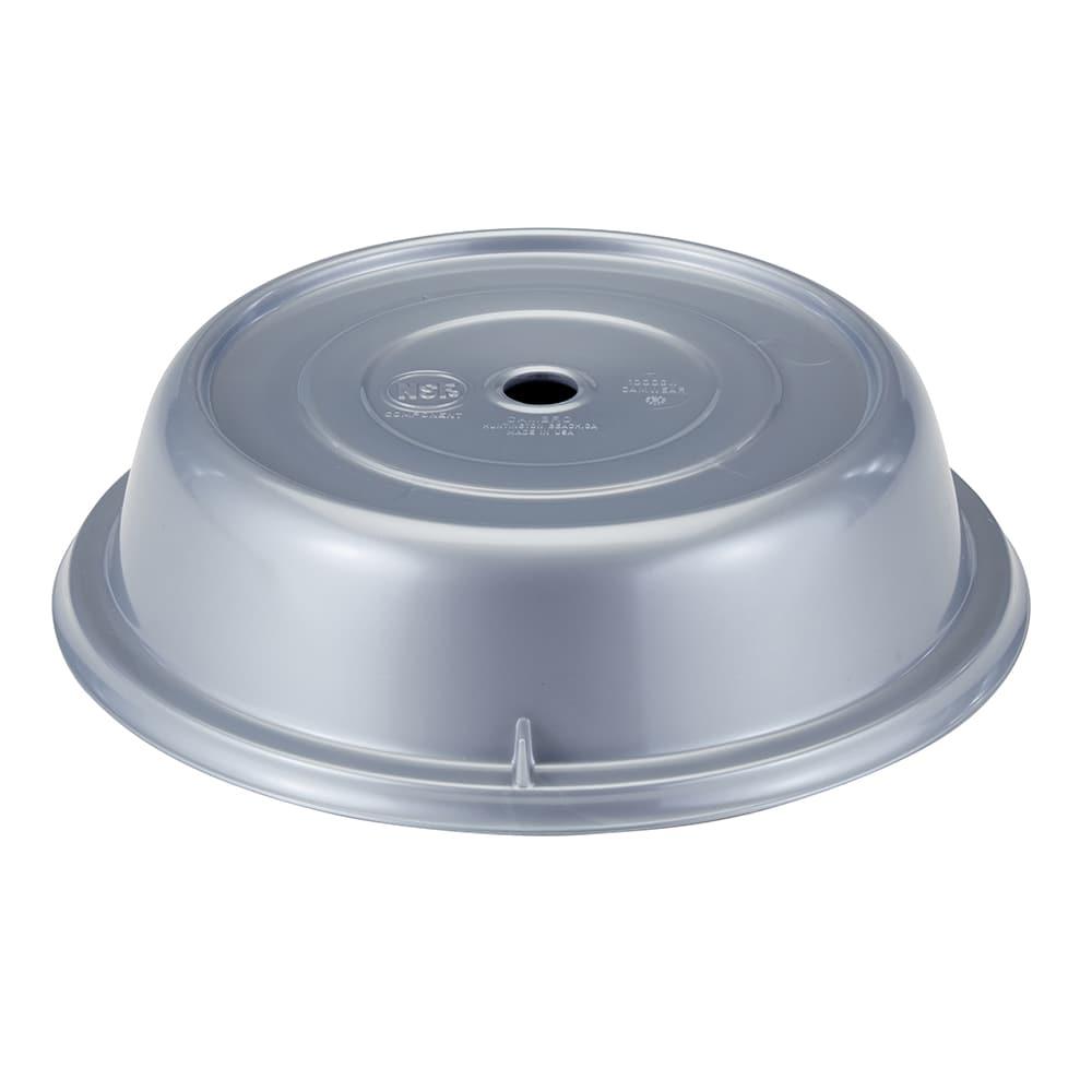 """Cambro 1000CW486 10 3/16"""" Round Camwear Plate Cover - Silver"""