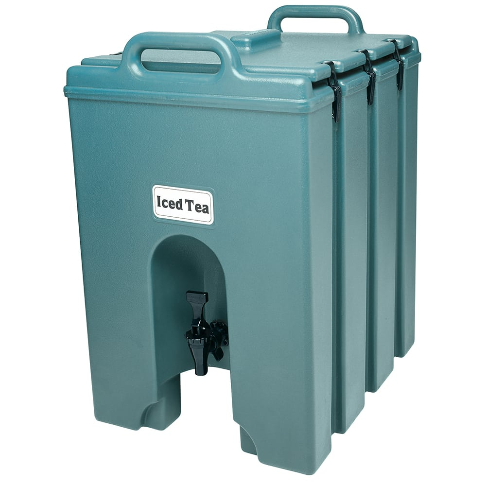 Cambro 1000LCD401 10 gal Camtainer Beverage Carrier - Insulated, Slate Blue