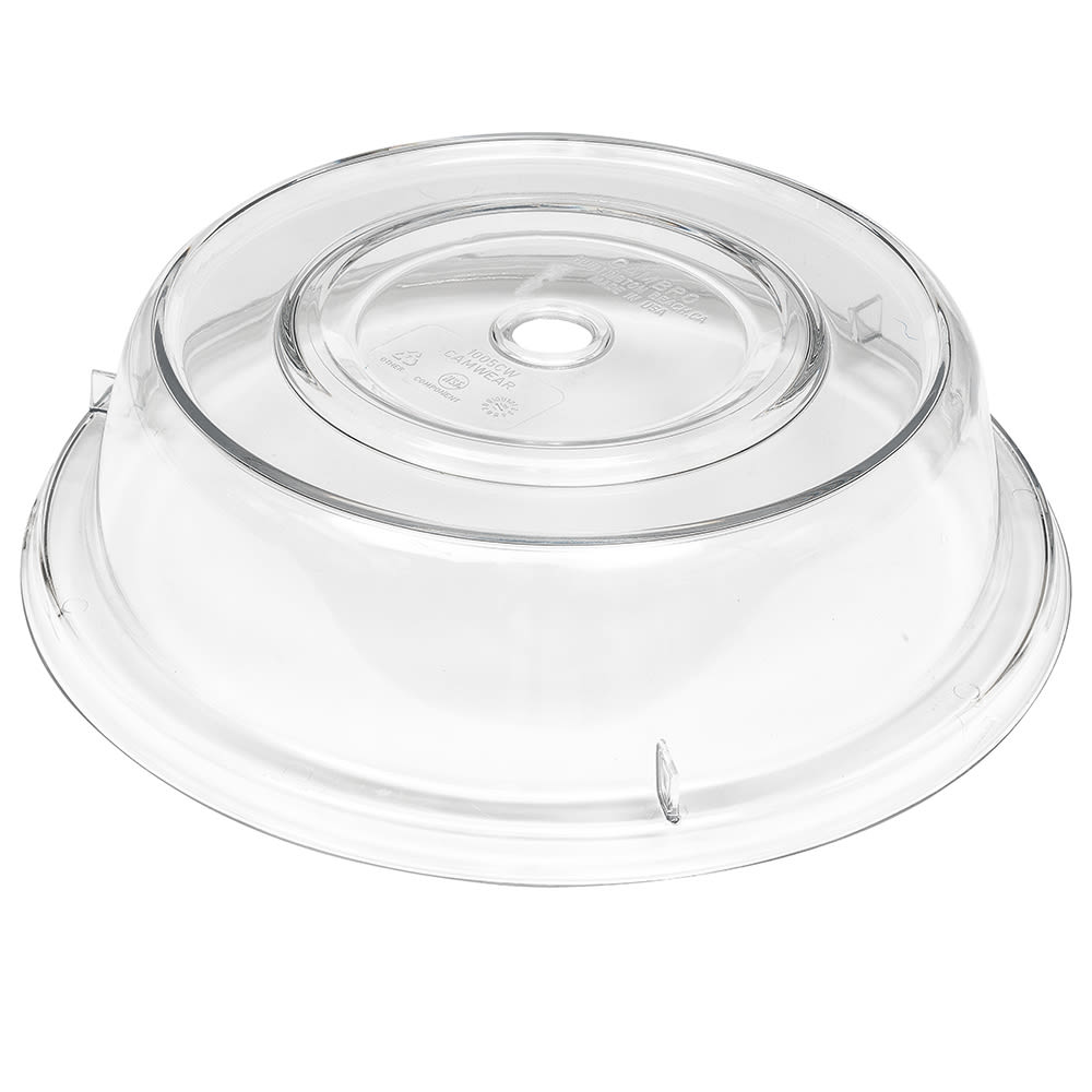 "Cambro 1005CW152 10-9/16"" Round Camwear Plate Cover - Clear"
