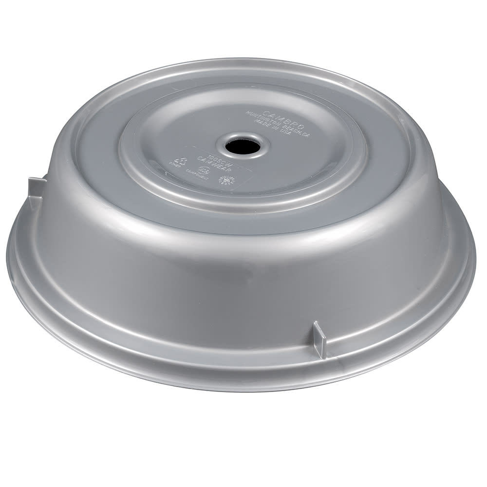 """Cambro 1005CW486 10 9/16"""" Round Camwear Plate Cover - Silver"""