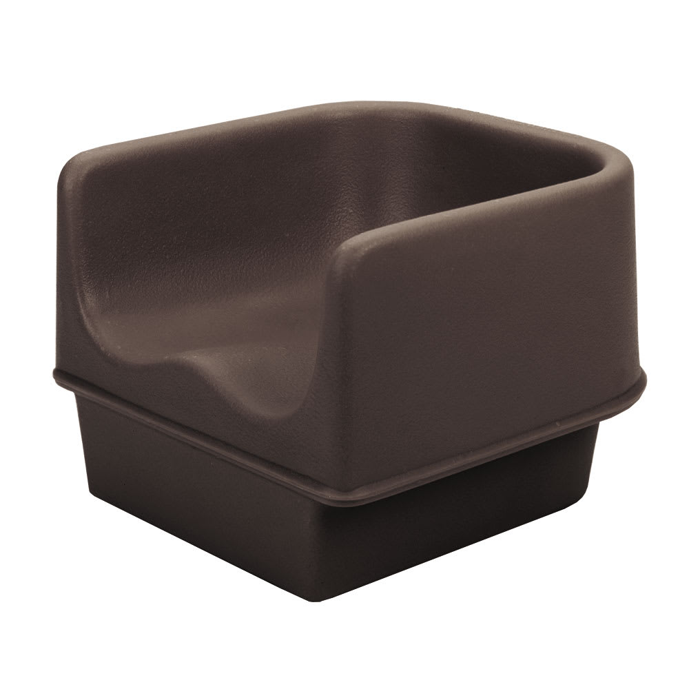 Cambro 100BC1131 Single-Height Booster Seat - Polyethylene, Dark Brown