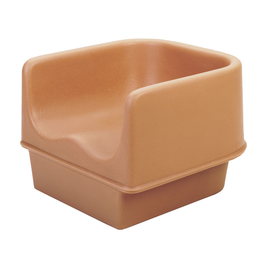 Cambro 100BC1157 Single-Height Booster Seat - Polyethylene, Coffee Beige