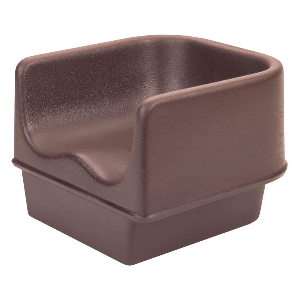 Cambro 100BC131 Single-Height Booster Seat - Polyethylene, Dark Brown