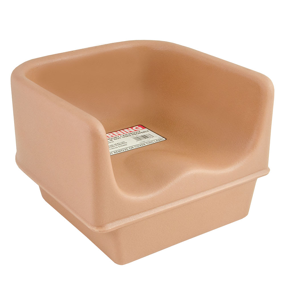 Cambro 100BC157 Single-Height Booster Seat - Polyethylene, Coffee Beige