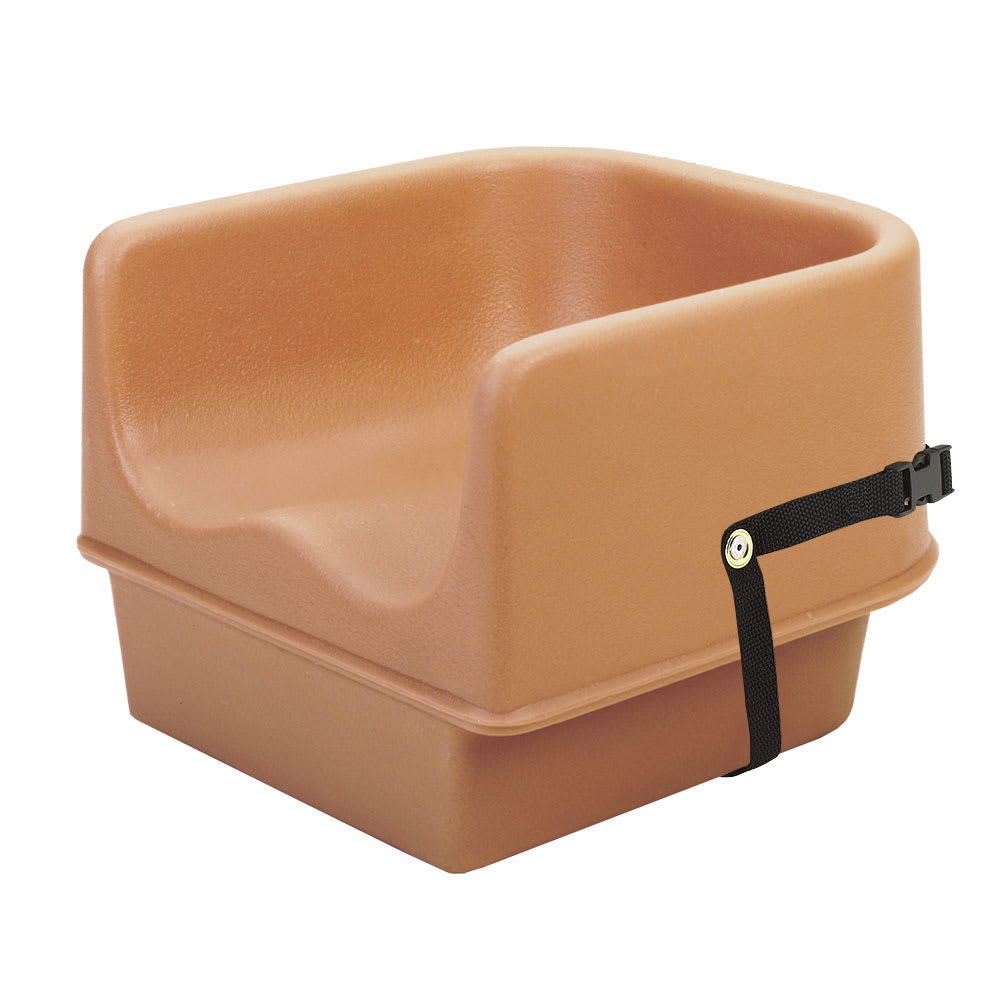Cambro 100BCS157 Single-Height Booster Seat w/ Safety Strap - Polyethylene, Coffee Beige