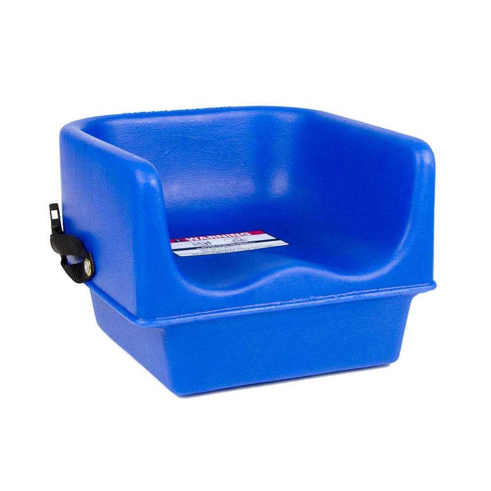 Cambro 100bcs186 Single Height Booster Seat W Safety Strap Polyethylene Navy Blue