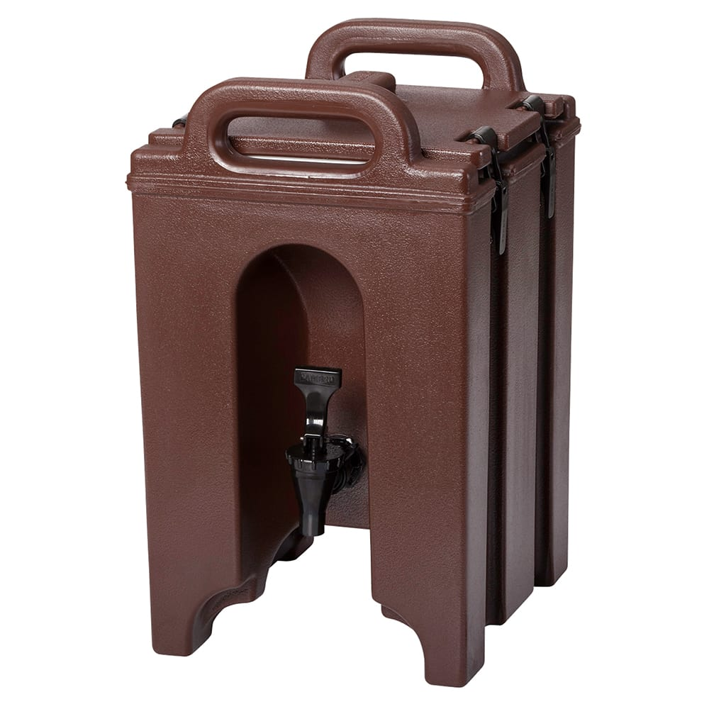 Cambro 100LCD131 1 1/2 gal Camtainer Beverage Carrier - Insulated, Dark Brown