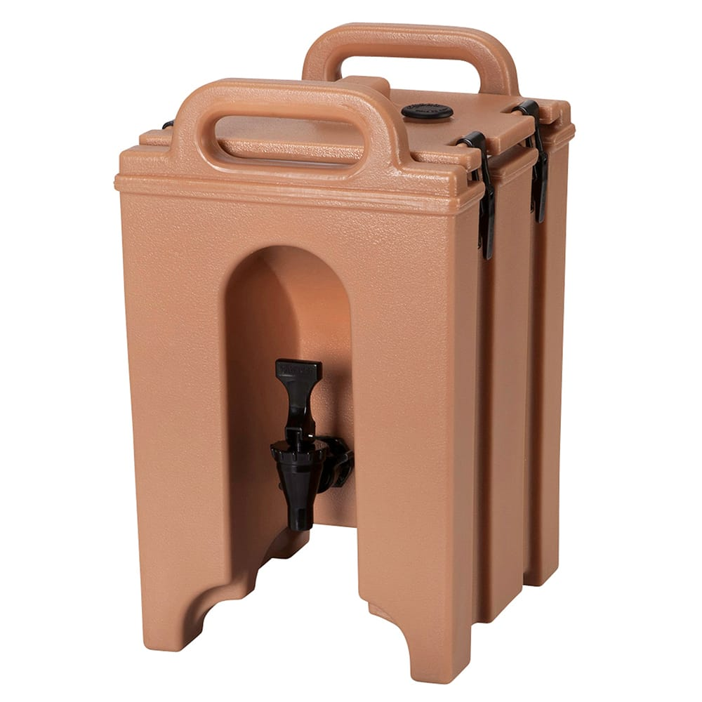 Cambro 100LCD157 1 1/2 gal Camtainer Beverage Carrier - Insulated, Coffee Beige