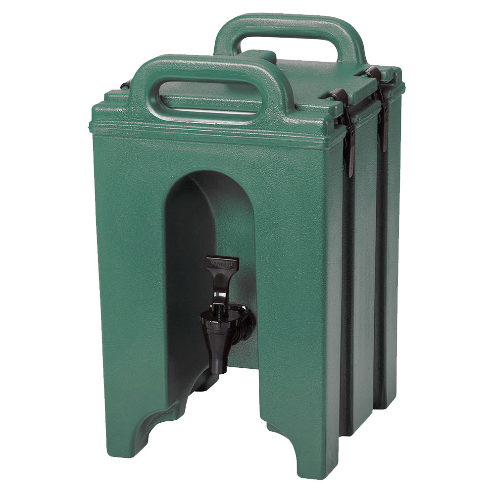 Cambro 100LCD519 1-1/2 gallon Camtainer Beverage Carrier, Kentucky Green, NSF