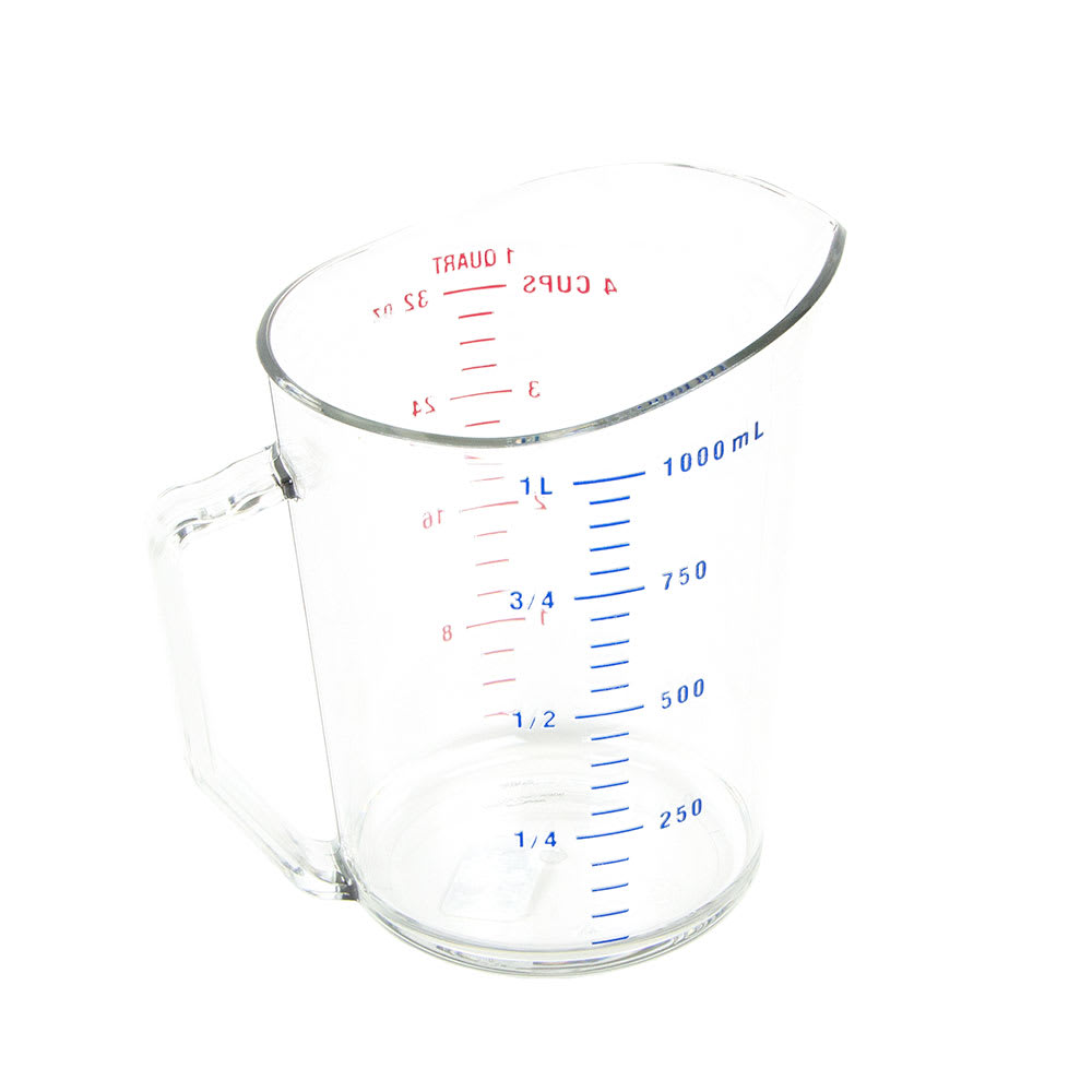 Cambro 100MCCW135 1-qt Camwear Measuring Cup - Clear