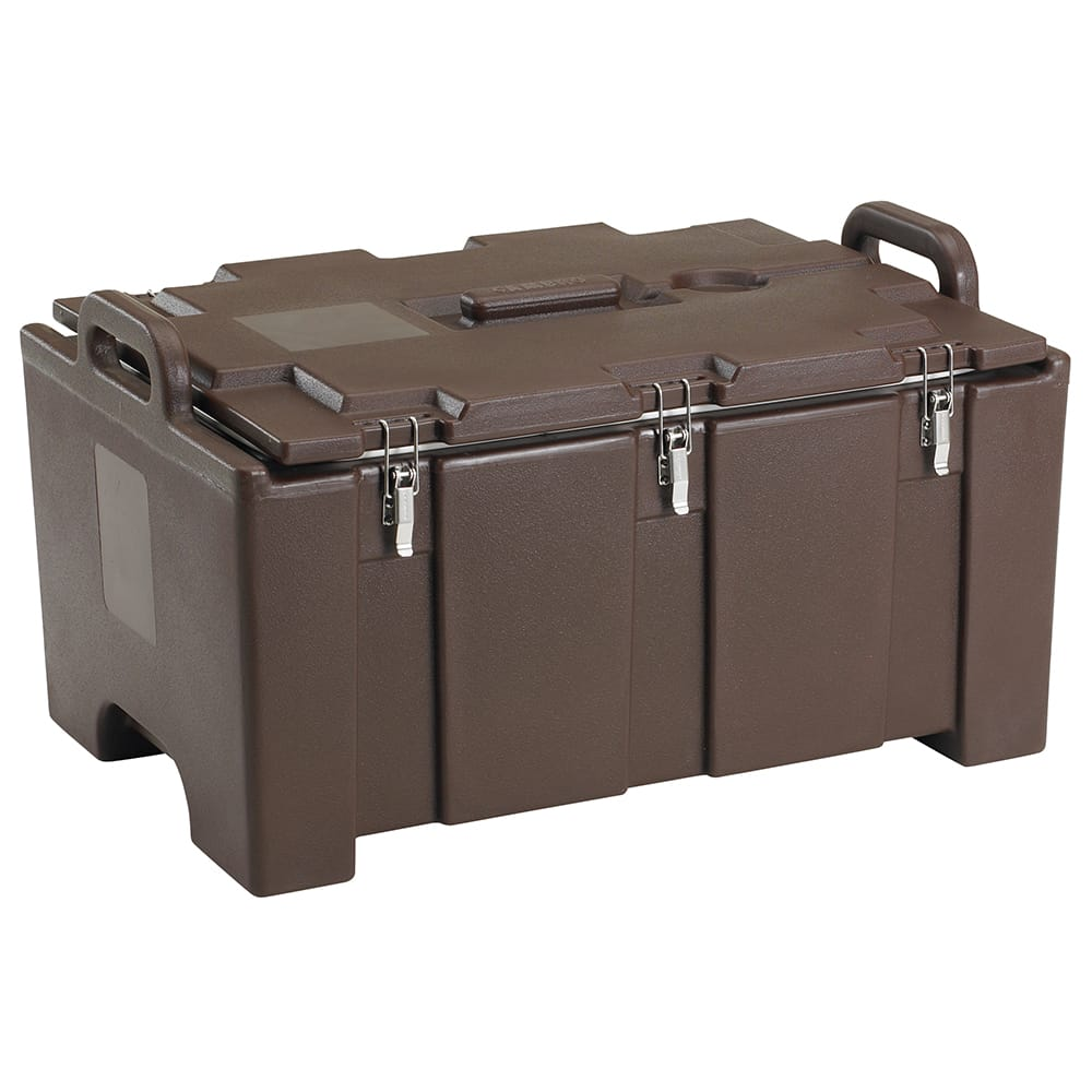 "Cambro 100MPC131 Camcarriers® Insulated Food Pan Carrier - 18x26.75x15"" Dark Brown"