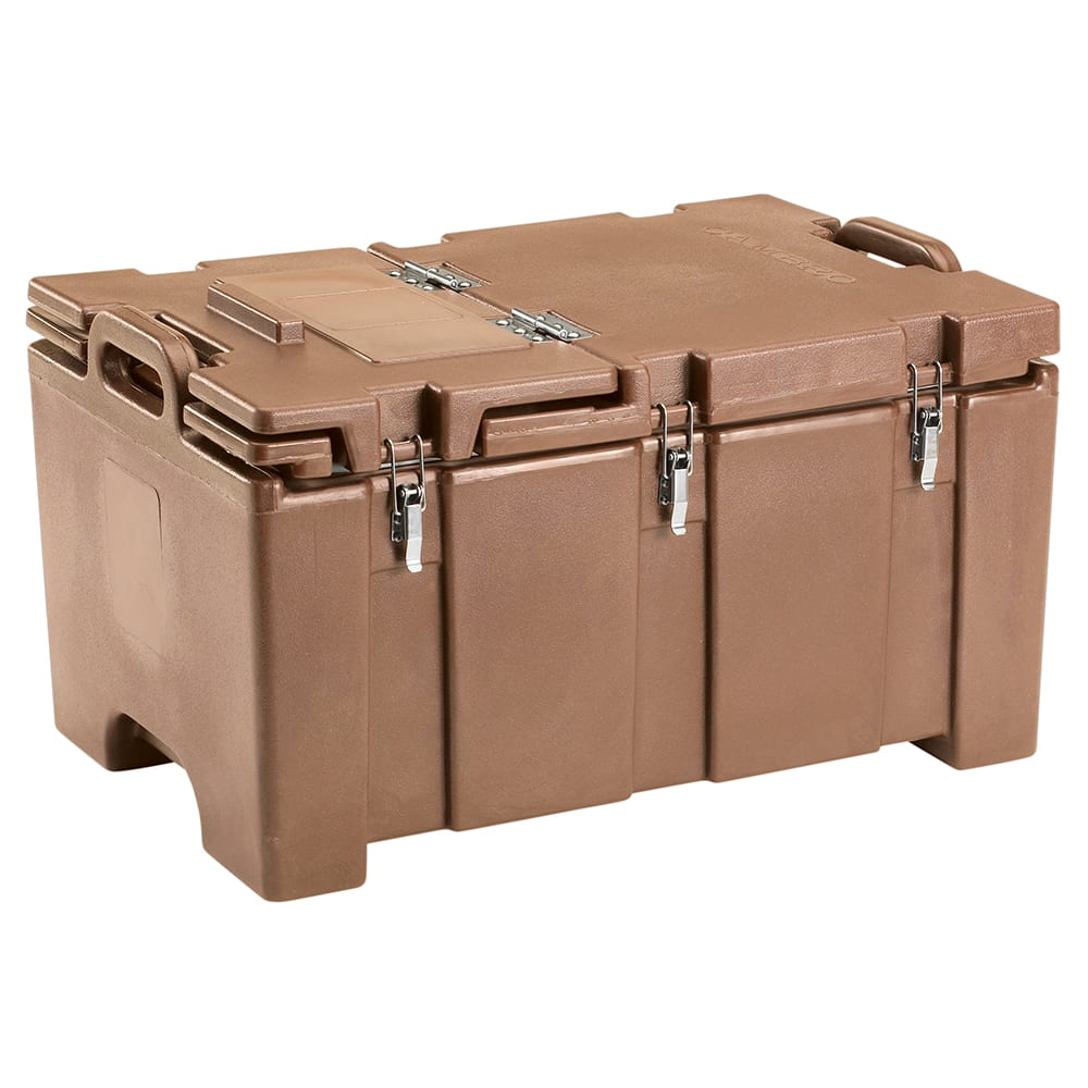 Cambro 100MPCHL157 Camcarriers® Insulated Food Carrier - 40 qt w/ (1) Pan Capacity, Hinged Lid, Beige