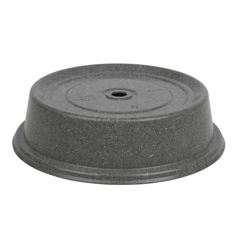 """Cambro 1010VS191 10 5/8"""" Versa Plate Cover - Granite Gray"""
