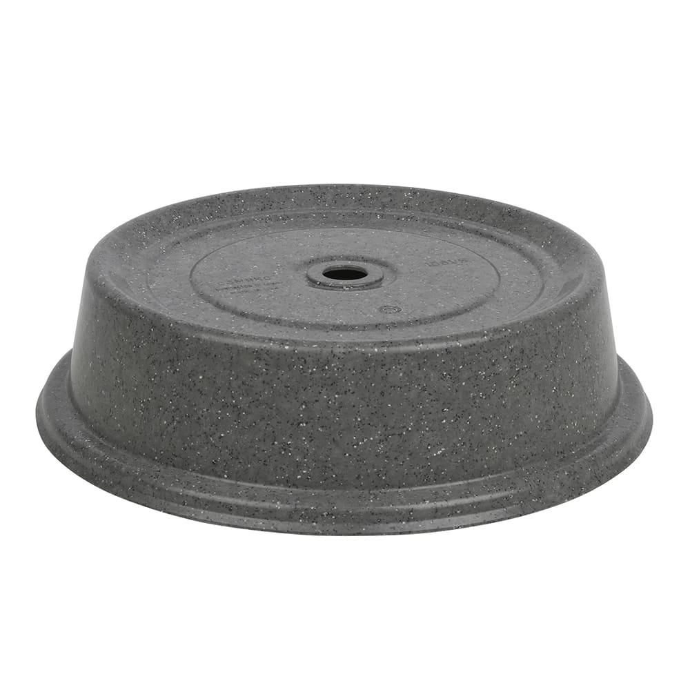 """Cambro 1012VS191 10 3/4"""" Versa Plate Cover - Granite Gray"""