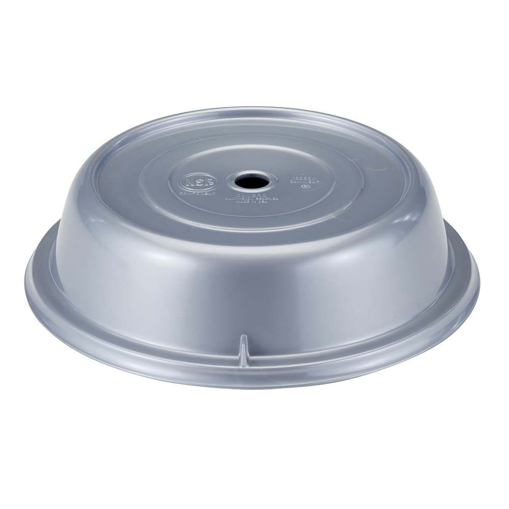 """Cambro 1013CW486 10 13/16"""" Camwear Plate Cover - Silver"""