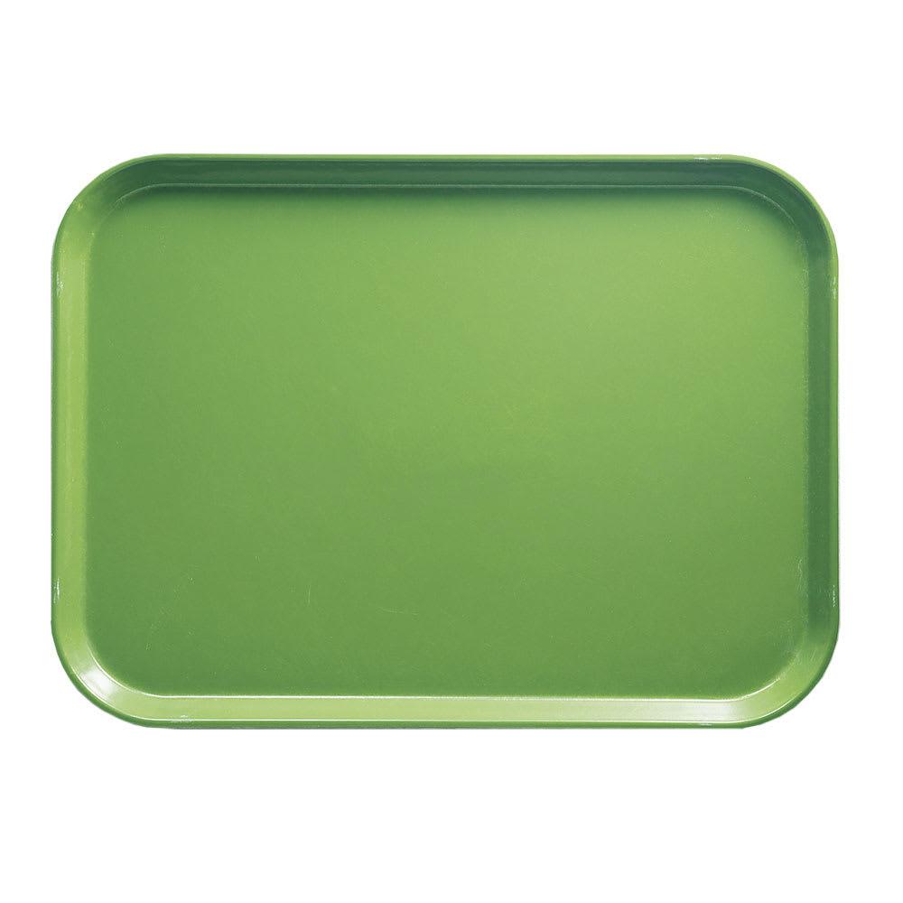 "Cambro 1014113 Fiberglass Camtray® Cafeteria Tray - 13.75""L x 10.6""W, Limeade"