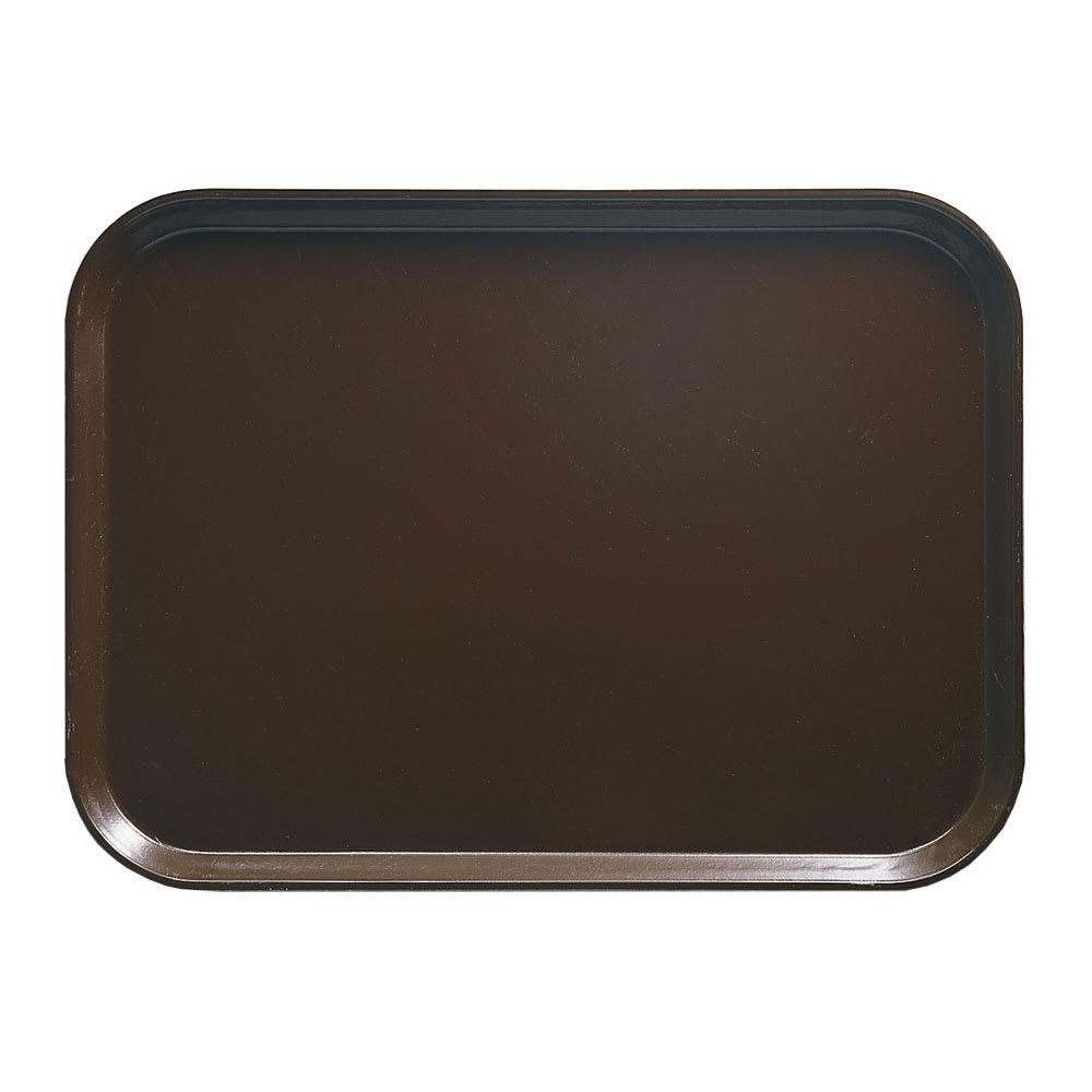 "Cambro 1014116 Fiberglass Camtray® Cafeteria Tray - 13.75""L x 10.6""W, Brazil Brown"