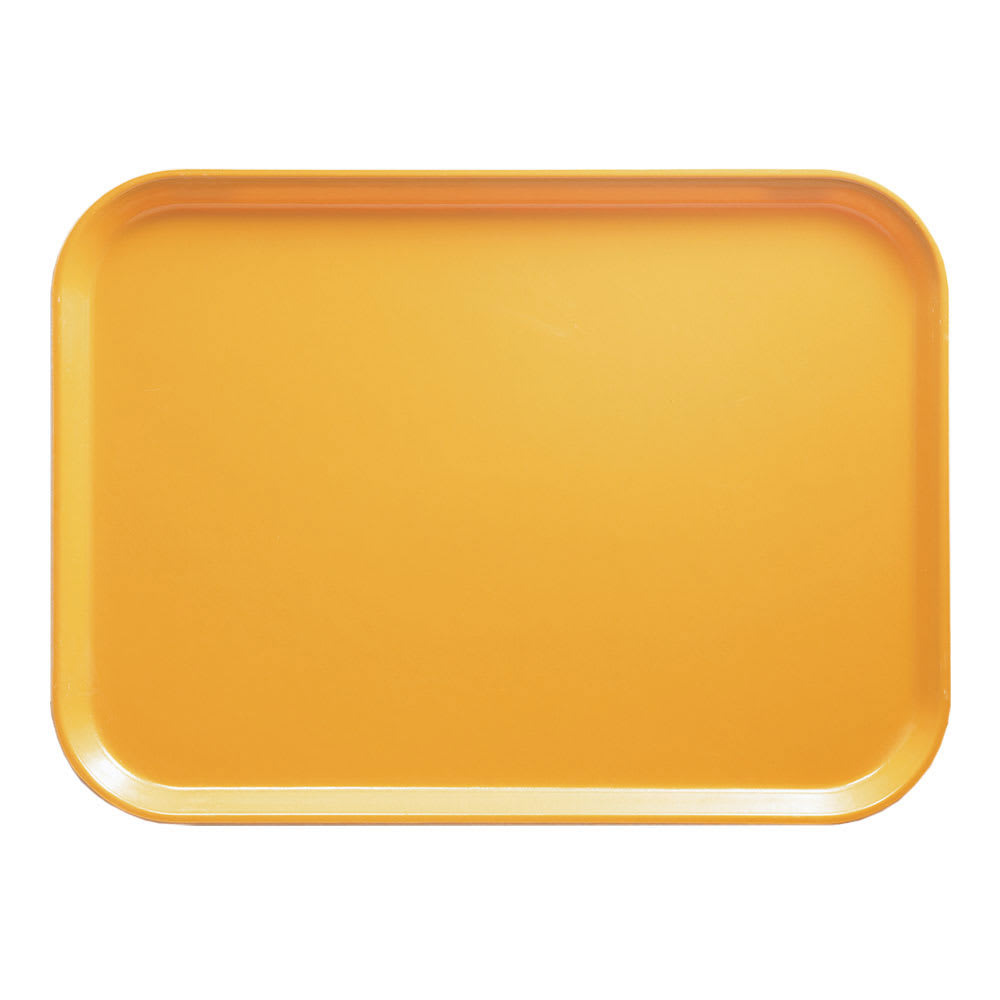 """Cambro 1014171 Fiberglass Camtray® Cafeteria Tray - 13.75""""L x 10.6""""W, Tuscan Gold"""