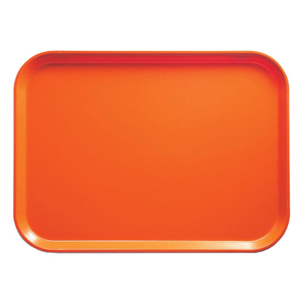 """Cambro 1014220 Fiberglass Camtray® Cafeteria Tray - 13.75""""L x 10.6""""W, Citrus Orange"""