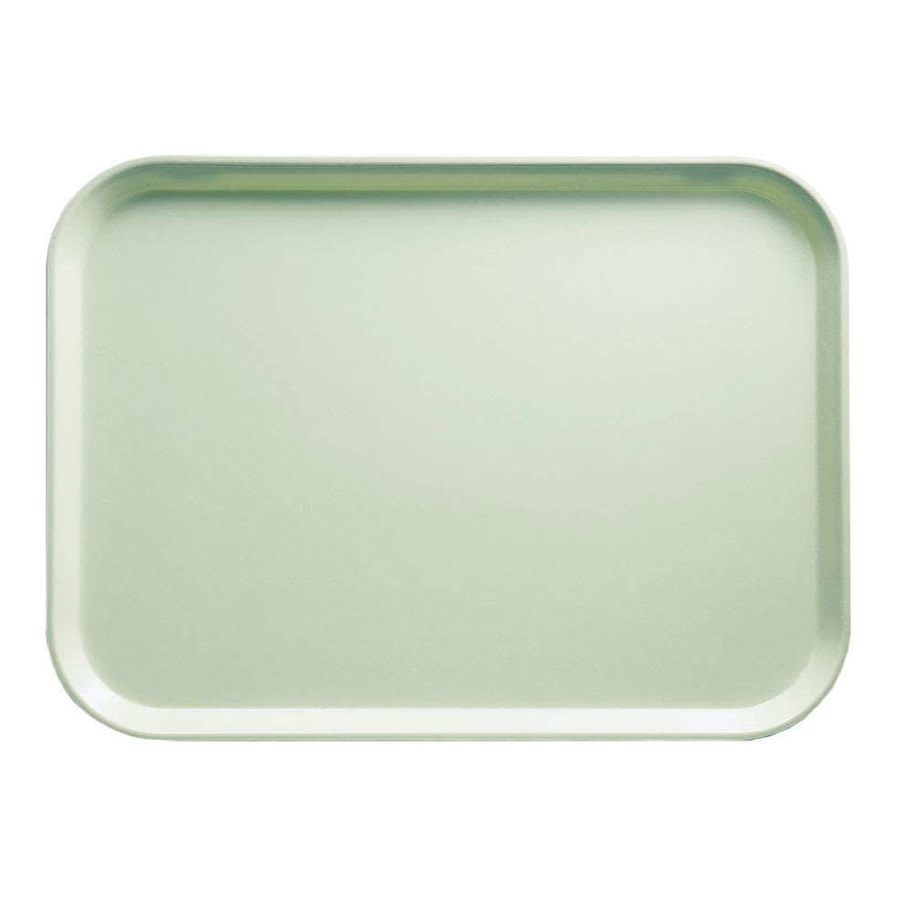 "Cambro 1014429 Rectangular Camtray - 10 5/8x13 3/4"" Key Lime"