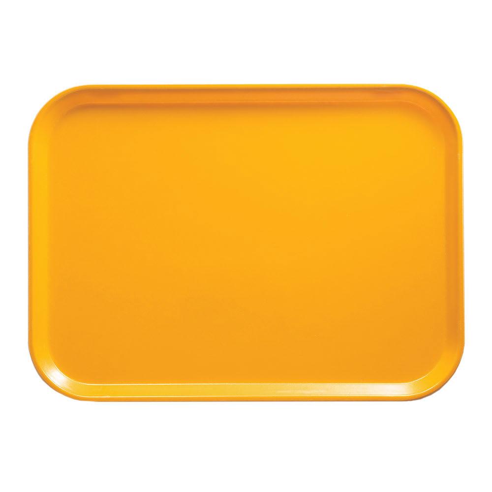 "Cambro 1014504 Fiberglass Camtray® Cafeteria Tray - 13.75""L x 10.6""W, Mustard"