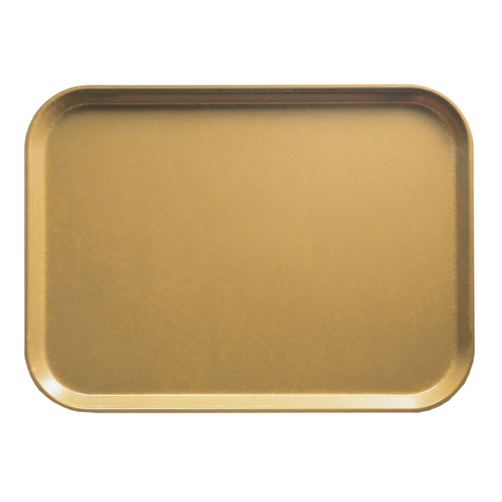 "Cambro 1014514 Fiberglass Camtray® Cafeteria Tray - 13.75""L x 10.6""W, Earthen Gold"