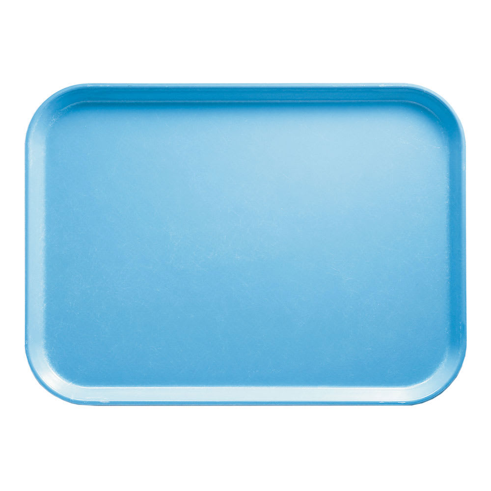 """Cambro 1014518 Rectangular Camtray - 10 5/8x13 3/4"""" Robin Egg Blue"""