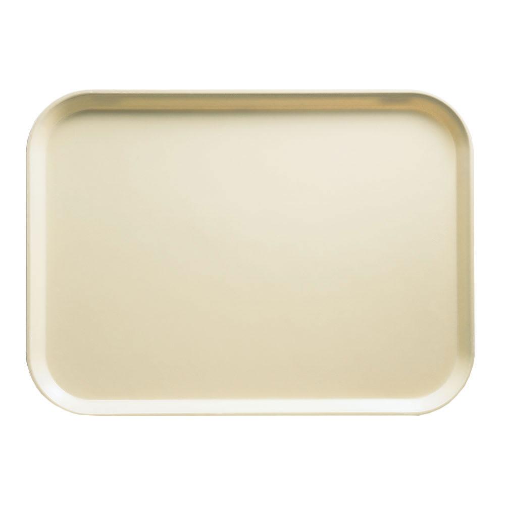 """Cambro 1014537 Rectangular Camtray - 10-5/8x13-3/4"""" Cameo Yellow"""
