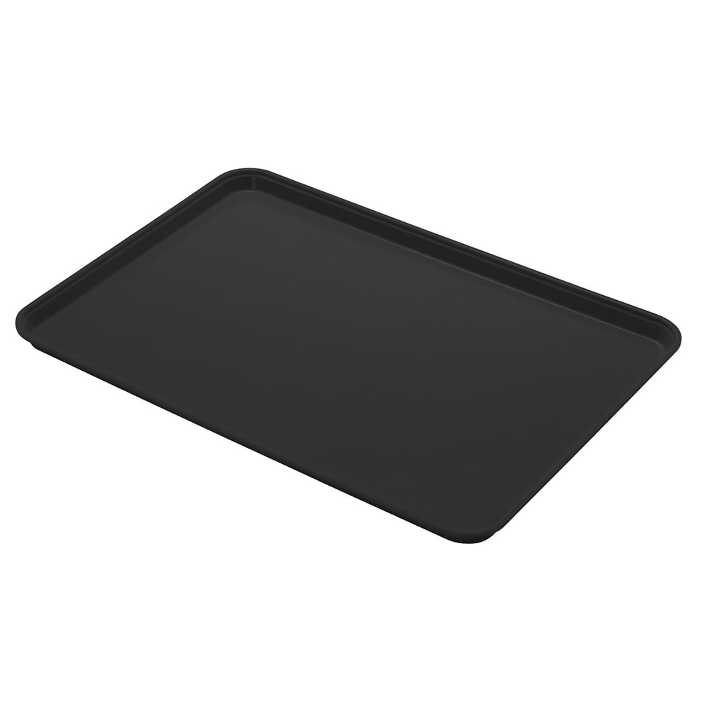 "Cambro 1014CL110 Fiberglass Camlite® Cafeteria Tray - 13.75""L x 10.6""W, Black"