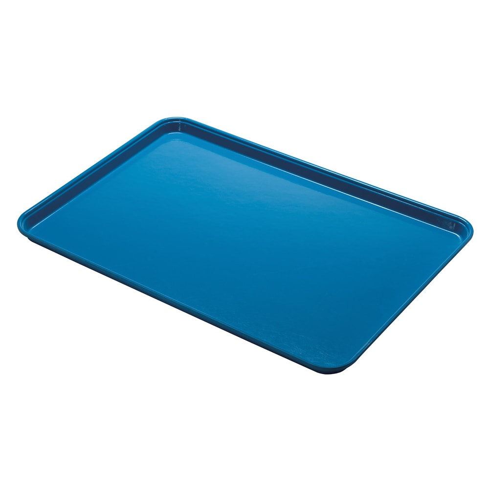"Cambro 1014CL142 Rectangular Camlite Tray - 10-5/8x13-3/4"" Blue"