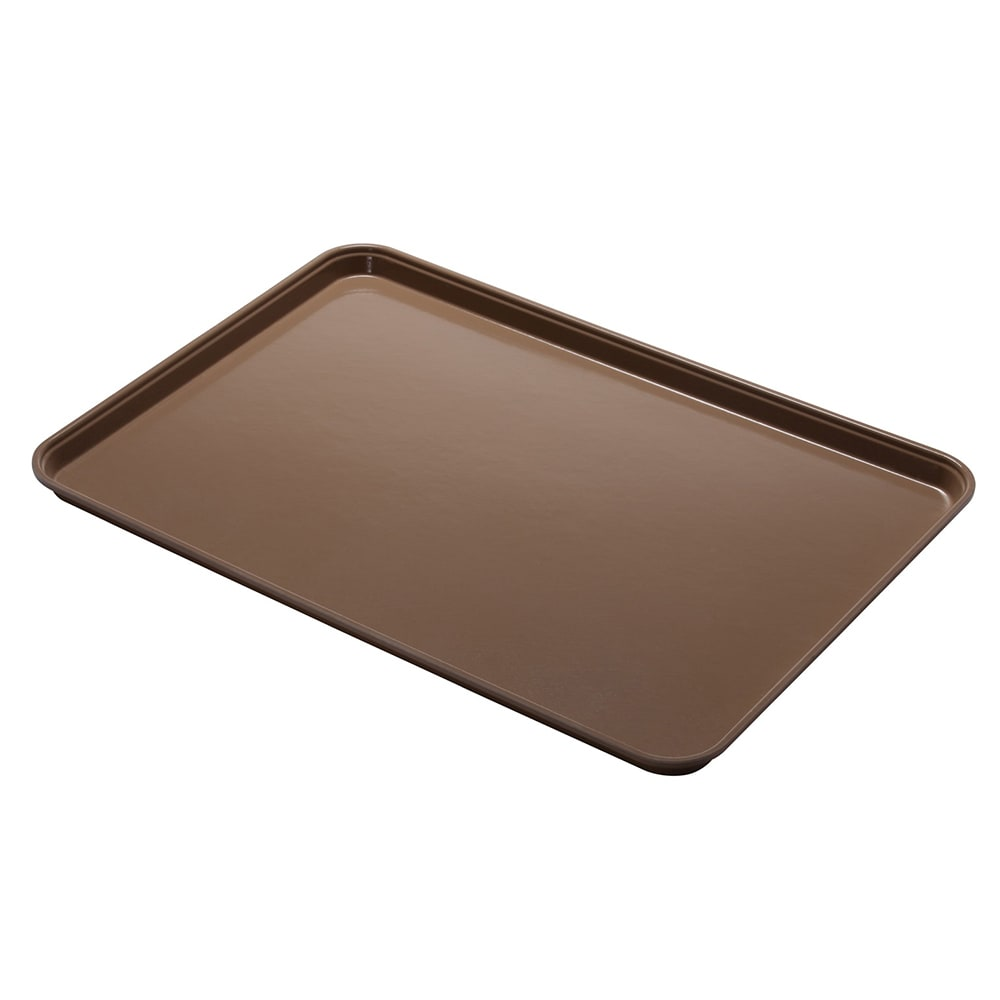 "Cambro 1014CL161 Rectangular Camlite Tray - 10-5/8x13-3/4"" Tan"