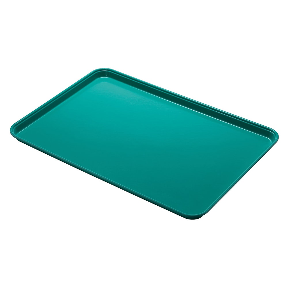 "Cambro 1014CL162 Rectangular Camlite Tray - 10-5/8x13-3/4"" Green"