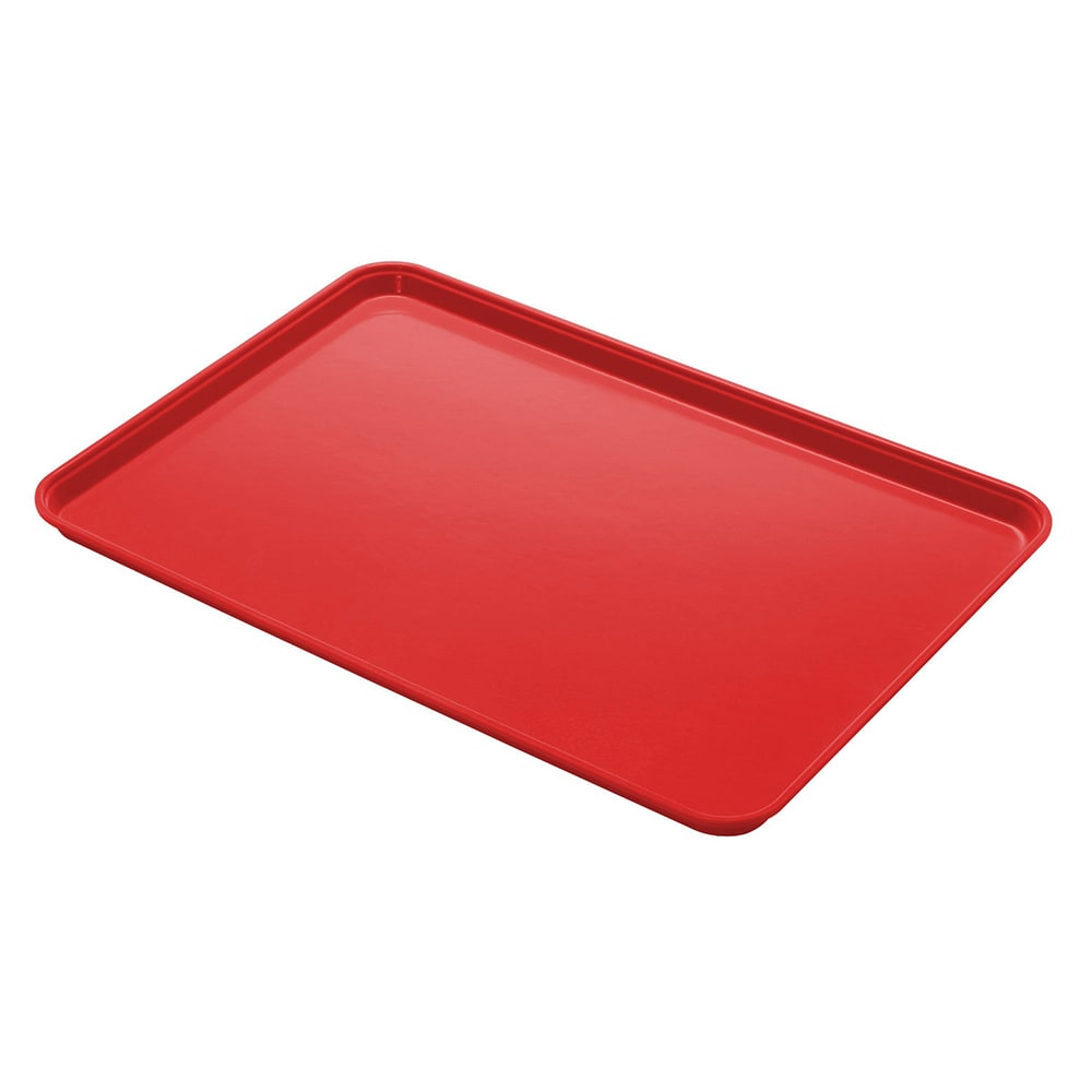 "Cambro 1014CL163 Rectangular Camlite Tray - 10-5/8x13-3/4"" Rose Red"