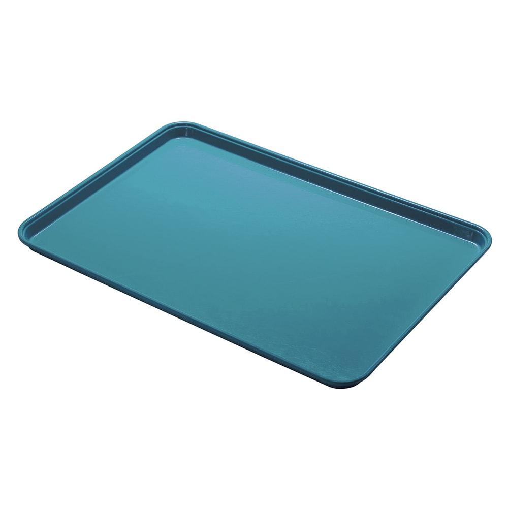 """Cambro 1014CL674 Rectangular Camlite Tray - 10 5/8x13 3/4"""" Steel Blue"""