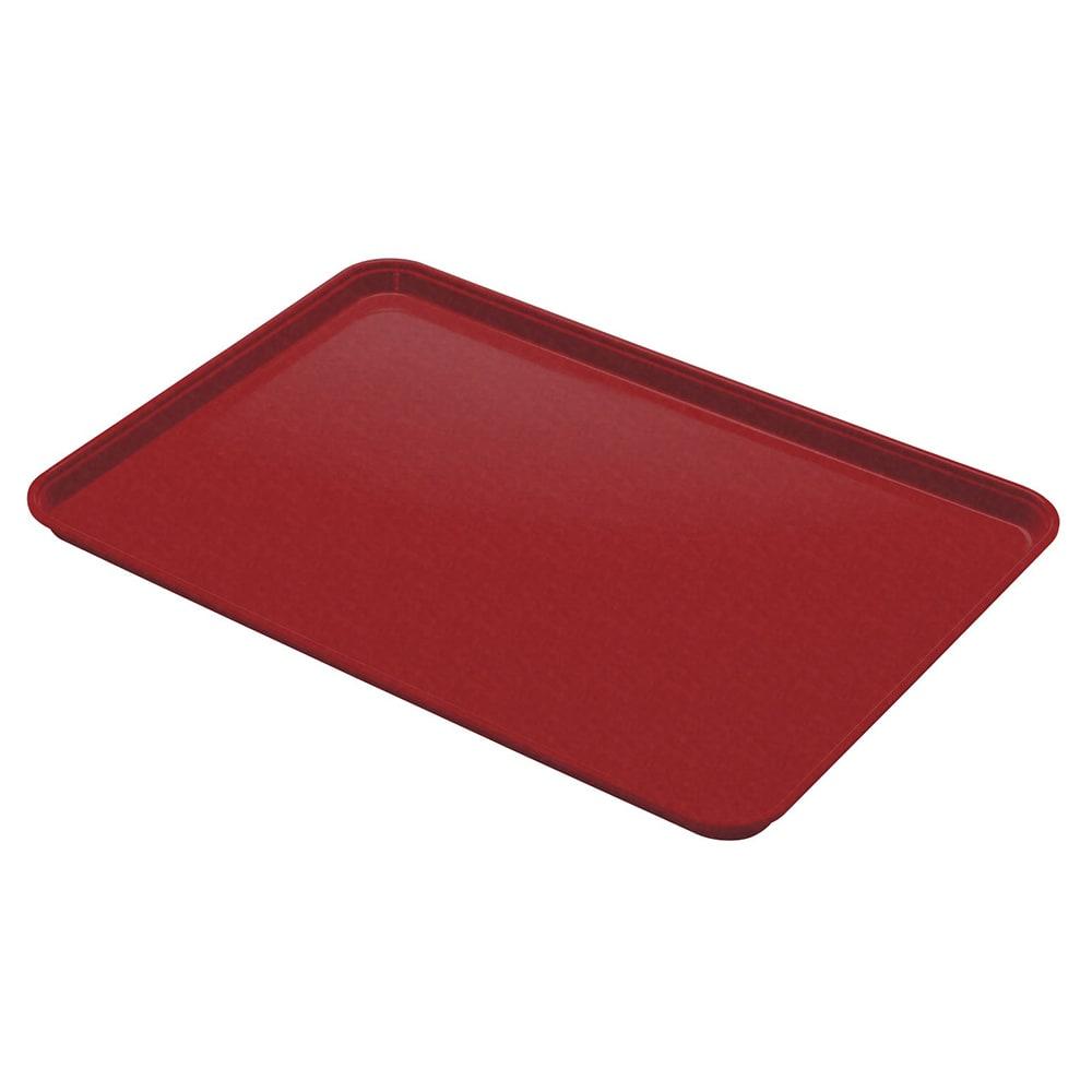 "Cambro 1014CL675 Rectangular Camlite Tray - 10 5/8x13 3/4"" Steel Red"