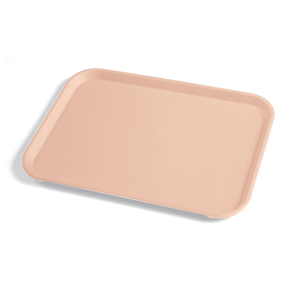 "Cambro 1014FF106 Rectangular Fast Food Tray - 10-7/16x13-9/16"" Light Peach"