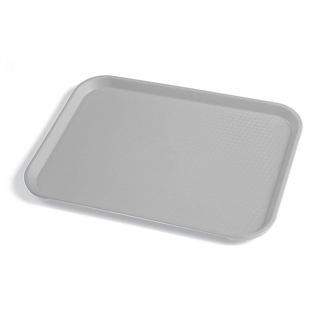 "Cambro 1014FF107 Rectangular Fast Food Tray - 10-7/16x13-9/16"" Pearl Gray"