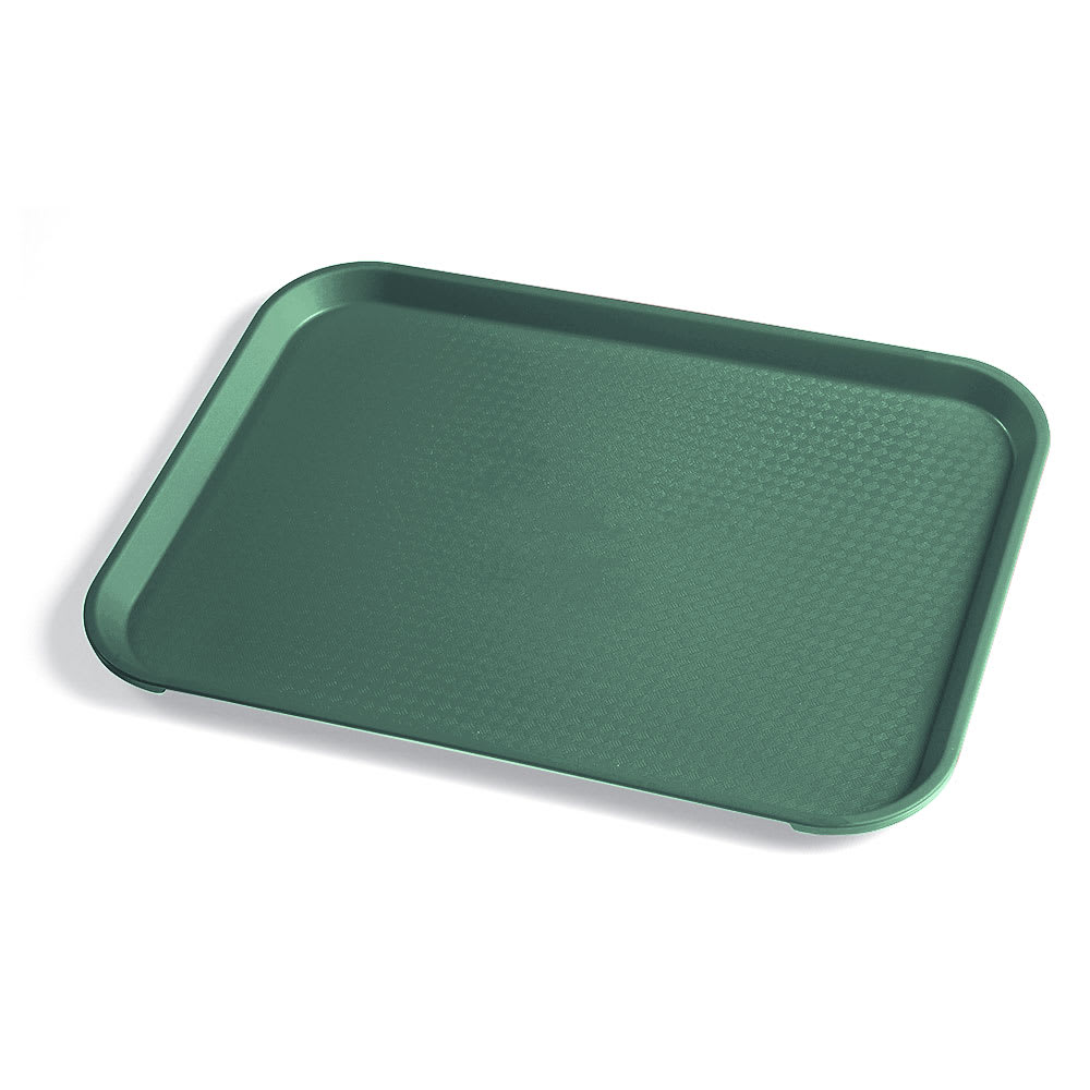 "Cambro 1014FF119 Plastic Fast Food Tray - 13.5""L x 10.4""W, Sherwood Green"