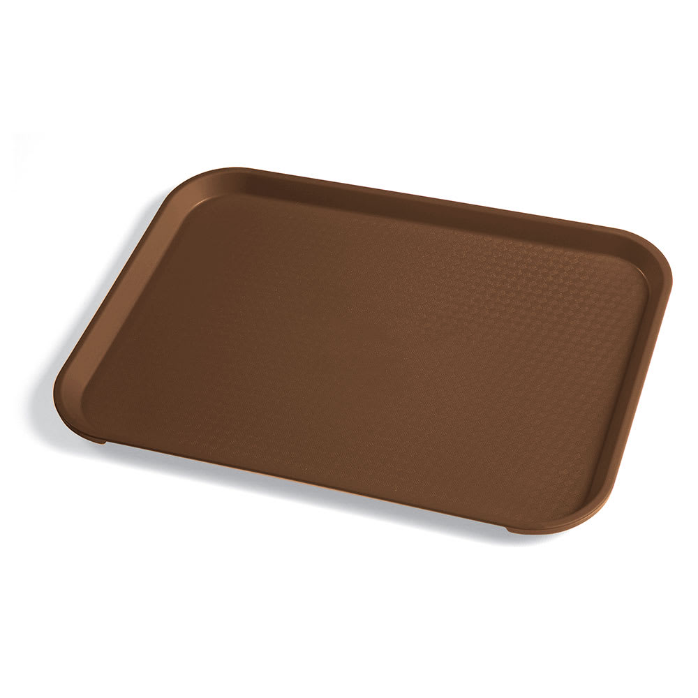 "Cambro 1014FF167 Rectangular Fast Food Tray - 10 7/16x13 9/16"" Brown"