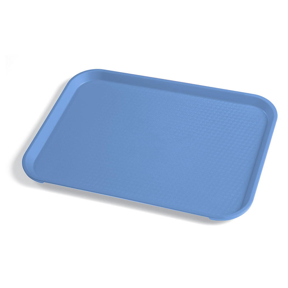 "Cambro 1014FF168 Rectangular Fast Food Tray - 10 7/16x13 9/16"" Blue"
