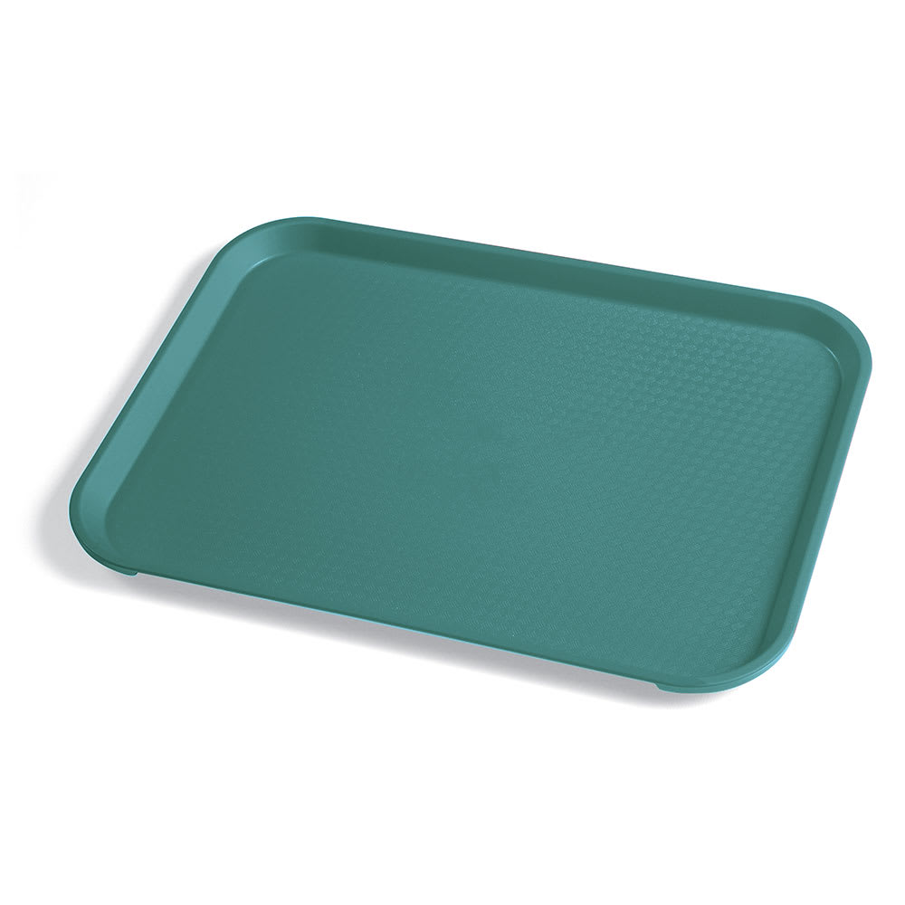 "Cambro 1014FF414 Rectangular Fast Food Tray - 10-7/16x13-9/16"" Teal"